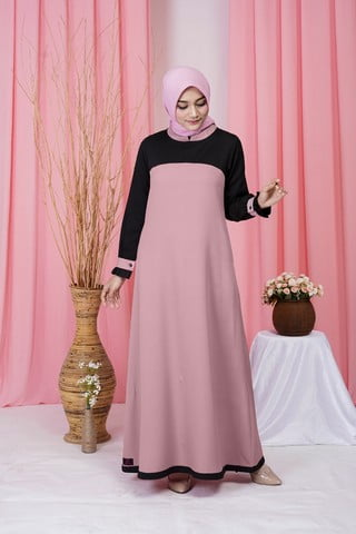 Rocella Dress Khanza - Salmon Peach