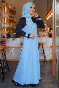 Rocella Dress Khanza - Wardah Blue