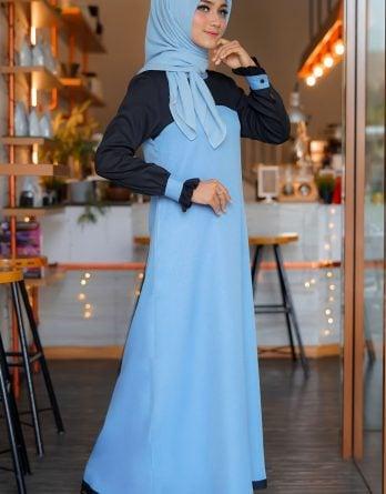Rocella Dress Khanza - Wardah Blue