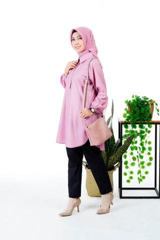 Rocella Tunik Miskawa - Dusty Pink