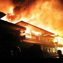 Pasar Klewer Terbakar