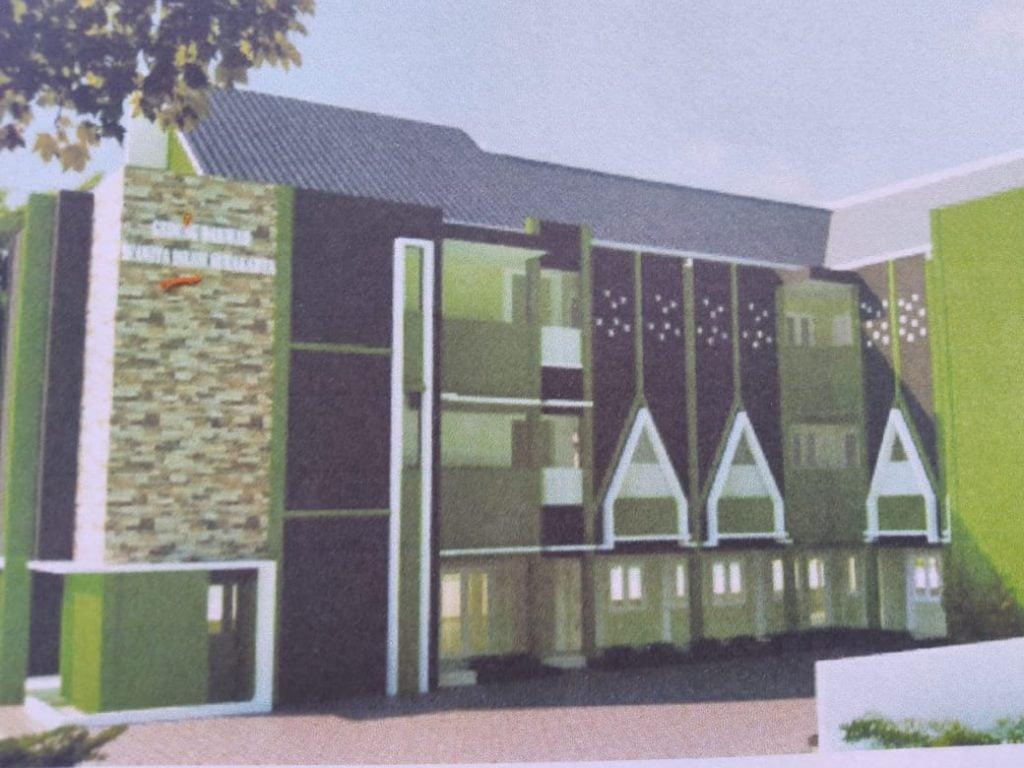 Ilustrasi Gedung Wanita Islam Masa Depan