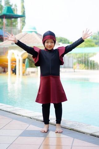 Rocella Swimwear Kids Karina - Maroon